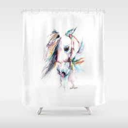 Fantasy white horse Shower Curtain