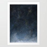 watercolour universe 2.0 Art Print