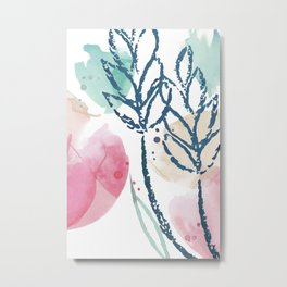 FLO-282 Windswept Flowers III Metal Print