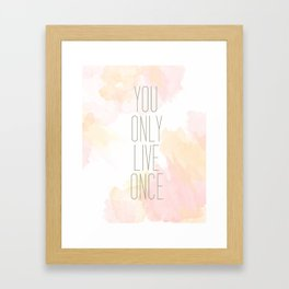 One Life Watercolor Framed Art Print