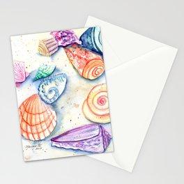 Whimsical Seashells 2 Stationery Cards