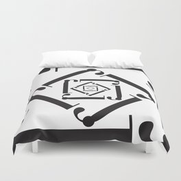 """Dizzy - The Didot """"j"""" Project Duvet Cover"""