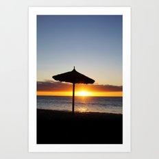 Tropical Island Sunset Art Print