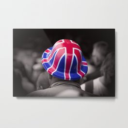 A Patriotic Boy Metal Print