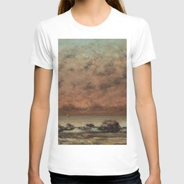 Gustave Courbet The Black Rocks at Trouville 18651866 Painting T-shirt