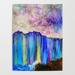 rainbow cliff Poster