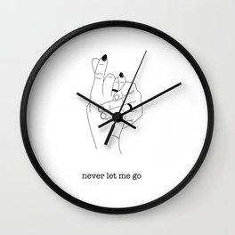 Never Let Me Go Wall Clock