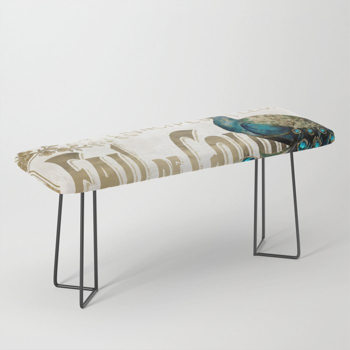 Peacock Jewels Bench