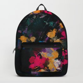 Purple and Yellow Abstract / Surrealist Painting Backpack