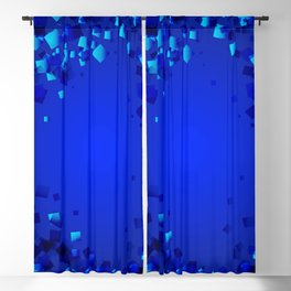 Sea explosive pattern of rhombuses and squares at the depth of the blue ocean. Blackout Curtain