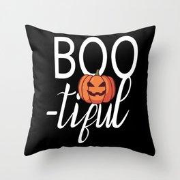 Boo tiful Halloween Beautiful Pumpkin Throw Pillow