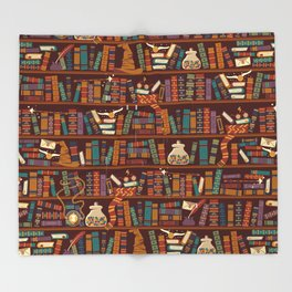 Bookshelf Throw Blanket