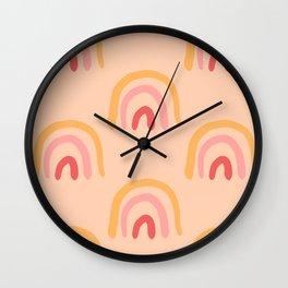 Boho Rainbows Wall Clock