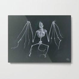 Bat Skeleton Metal Print