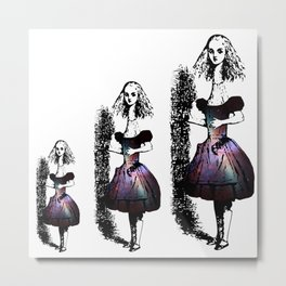 Alice Grows Up in the Universe Metal Print
