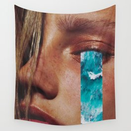 "Collage ""CRY ME A RIVER"" Wall Tapestry"