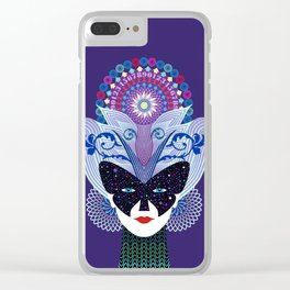 Madame Butterfly Clear iPhone Case