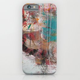 Casual Brush Strokes Abstract iPhone Case