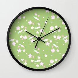 sakura sweets pattern Wall Clock