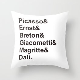 Surrealists Throw Pillow