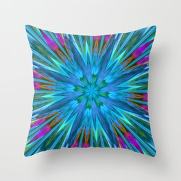 Inverted/Solarized Abstract 7 Throw Pillow