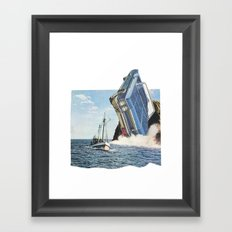 The crash Framed Art Print