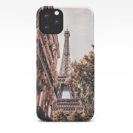 Paris Eifel Tower Pink photography in HD iPhone Case