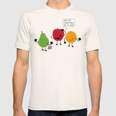 Like Apples and Oranges Natural Mens Fitted Tee MEDIUM