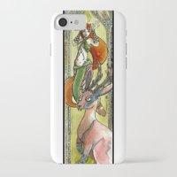 jackalope iPhone & iPod Cases featuring Jackalope by Mathilde Fontano