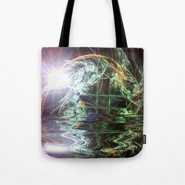 Fractal - Sunrise on the Planet GJ1214b Tote Bag