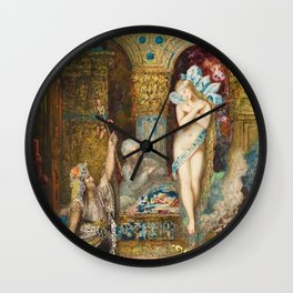 The Fable by Gustave Moreau Wall Clock