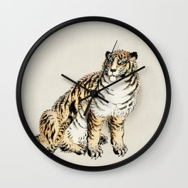Tiger by Kōno Bairei Wall Clock