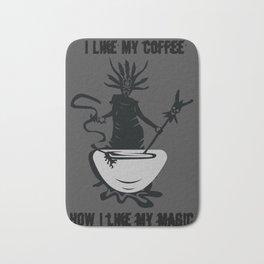 Black Coffee Black Magic Word Game Gift Bath Mat