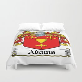 Family Crest - Adams - Coat of Arms Duvet Cover