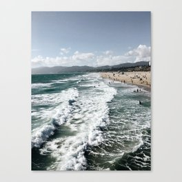 Mountains and Waves Canvas Print