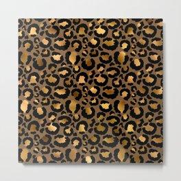 Leopard Metal Glamour Skin Metal Print