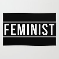 feminist Area & Throw Rugs featuring Feminist 2 by aesthetically