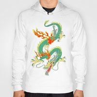 chinese Hoodies featuring Chinese Dragon by J&C Creations
