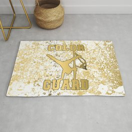 Color Guard White and Gold Patina Style 2 Design Rug
