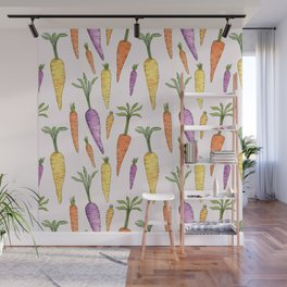 Watecolor Heirlom Carrots Wall Mural