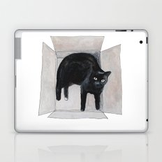 black cat box Laptop & iPad Skin