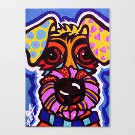 Rover Designer Dog Terrier Breed Puppy Canvas Print