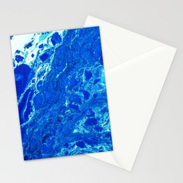 Blue Marble Paint Stationery Cards