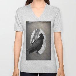 Portrait Of A Crow Unisex V-Neck