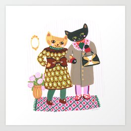 BFF Kitties Art Print