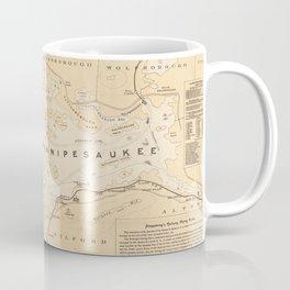 Vintage Map of Lake Winnipesaukee (1896) Coffee Mug