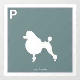 Poodle Blue | Dogs Art Print