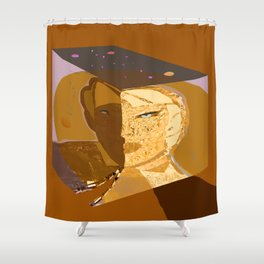 Mars and Venus Conjunction Shower Curtain