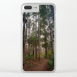 Walking Through the Tall Trees Clear iPhone Case