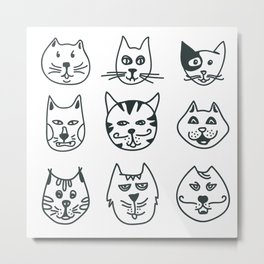 Cats - Who let the dog in? Metal Print
